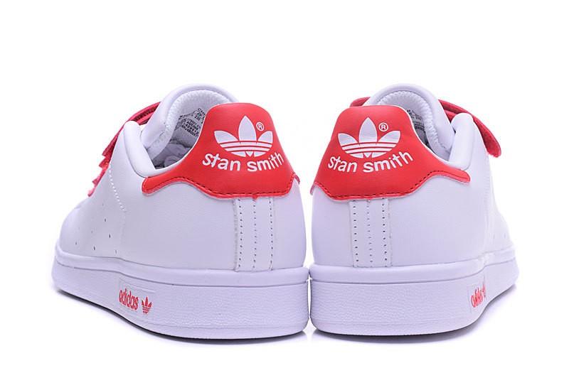 stan smith blanche et rouge pas cher